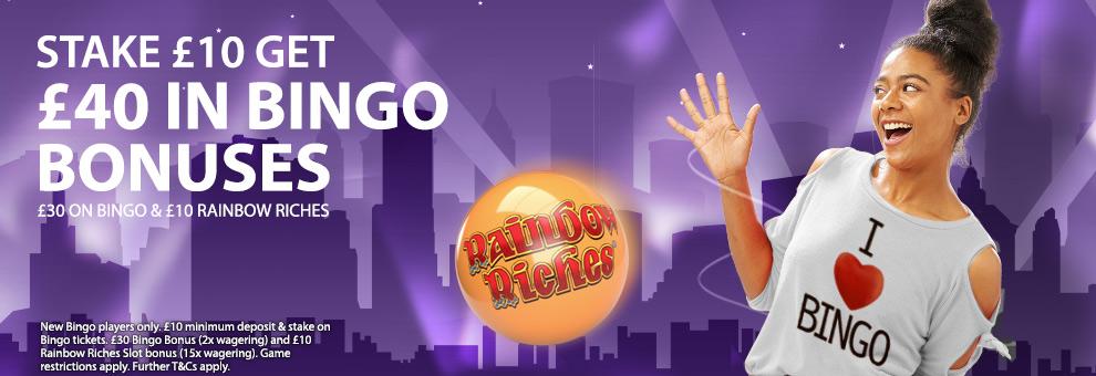 Betfred Bingo Welcome OfferBetfred Bingo Welcome Offer