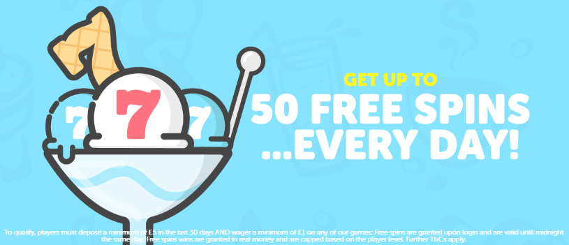 Sundae Bingo: Get 50 Free Spins Everyday